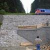 1997 Vystavba kotvene operne zdi v Branne na trati